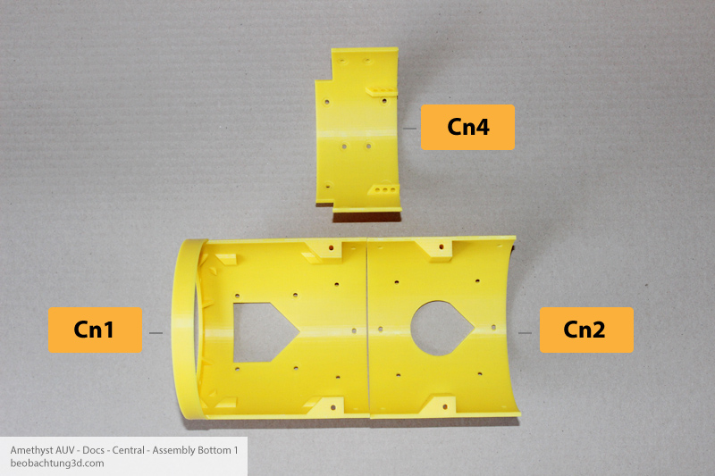 Amethyst AUV Center - Bottom Parts